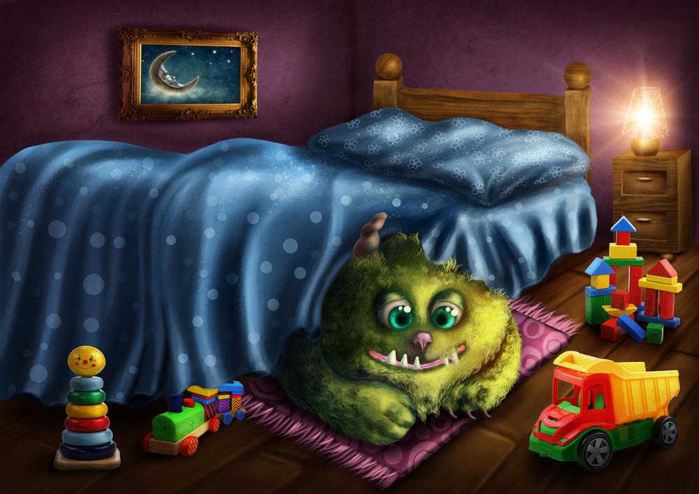 יש מפלצת תחת המיטה שלי!